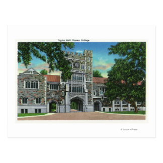 Exterior View of Taylor Hall Vassar College Postcard