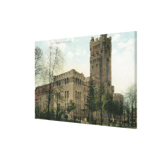 Exterior View of the 54th Regiment Armory Canvas Print