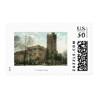 Exterior View of the 54th Regiment Armory Postage