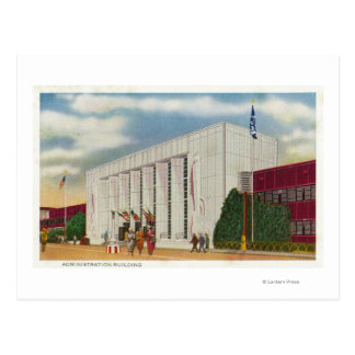 Exterior View of the Administration Bldg Postcard