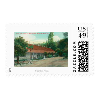 Exterior View of the Annex and the Hotel Grounds Postage Stamp