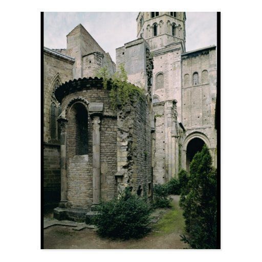 Exterior view of the apsidiole of the Abbey Postcard