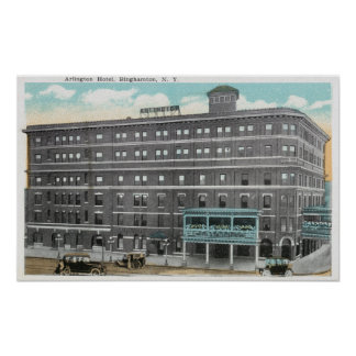 Exterior View of the Arlington Hotel Poster