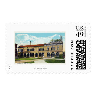 Exterior View of the Art Museum Stamp