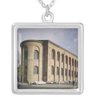 Exterior view of the Aula Palatina, built c.310 Silver Plated Necklace