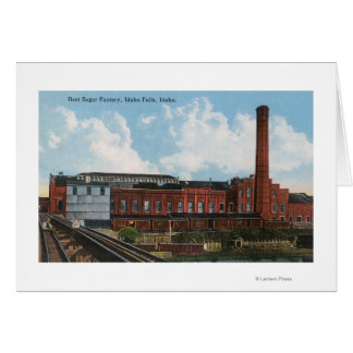 Exterior View of the Beet Sugar Factory Card
