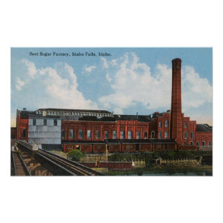 Exterior View of the Beet Sugar Factory Poster