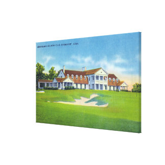 Exterior View of the Brooklawn Country Club Canvas Print