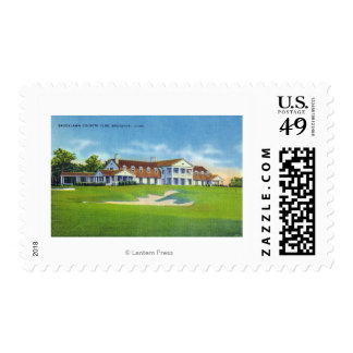 Exterior View of the Brooklawn Country Club Postage Stamp