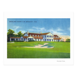 Exterior View of the Brooklawn Country Club Postcard