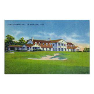 Exterior View of the Brooklawn Country Club Poster