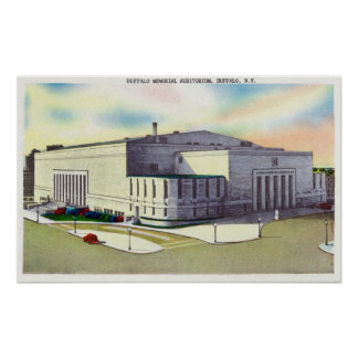 Exterior View of the Buffalo Memorial Posters