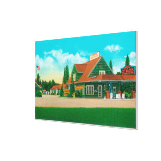 Exterior View of the Capital CottagesSalem, OR Stretched Canvas Print