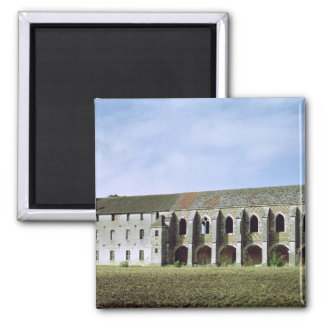Exterior view of the Cistercian Abbey 2 Inch Square Magnet