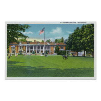 Exterior View of the Colonnade Building Poster
