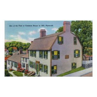 Exterior View of the Common House Poster