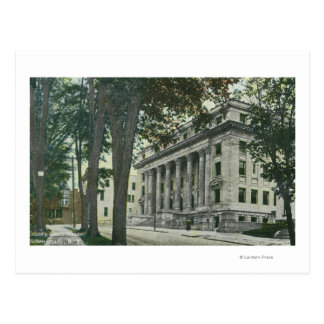 Exterior View of the County Court House Postcard