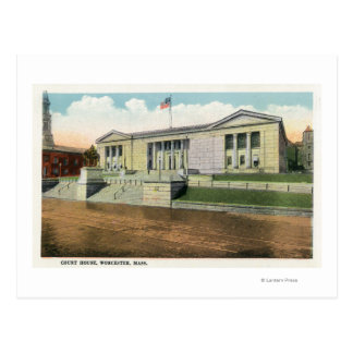 Exterior View of the Court House Postcard