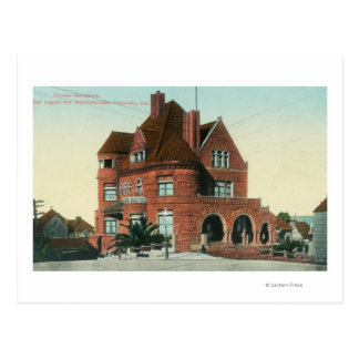 Exterior View of the Crocker Residence Postcard
