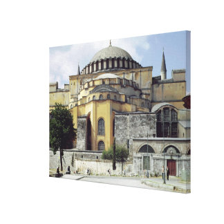 Exterior view of the cupola, 532-37 stretched canvas print