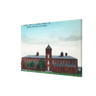Exterior View of the Currier Co Silk Mills Canvas Print