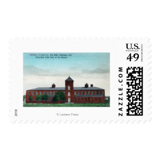 Exterior View of the Currier Co Silk Mills Postage