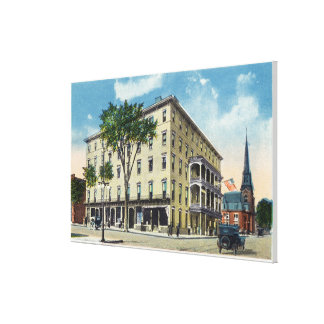 Exterior View of the De Witt Hotel Canvas Print