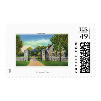 Exterior View of the Entrance Lodge Stamp