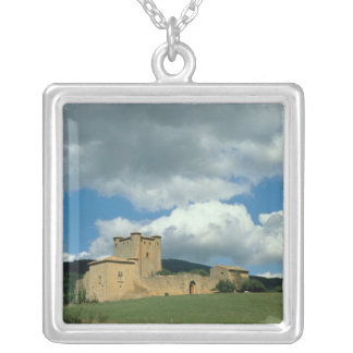 Exterior view of the fortress, built 1038-43 silver plated necklace
