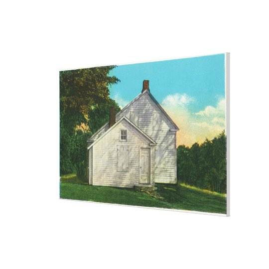 Exterior View of the Freeman House Canvas Print