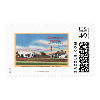 Exterior View of the Gateway MotelMerced, CA Postage Stamp