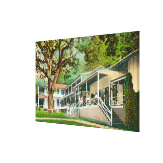 Exterior View of the Geysers Hotel Guests Posin Canvas Prints