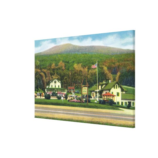 Exterior View of the Glen House Canvas Print