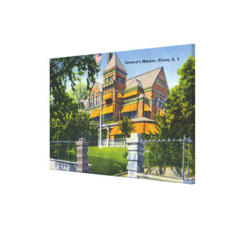 Exterior View of the Governor's Mansion Canvas Print