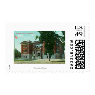 Exterior View of the Grammar School 3 Postage
