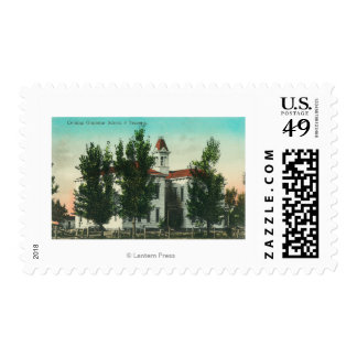 Exterior View of the Grammar SchoolCorning, CA Postage