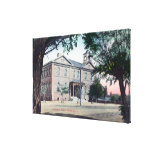 Exterior View of the Grammar SchoolRedding, CA Gallery Wrapped Canvas