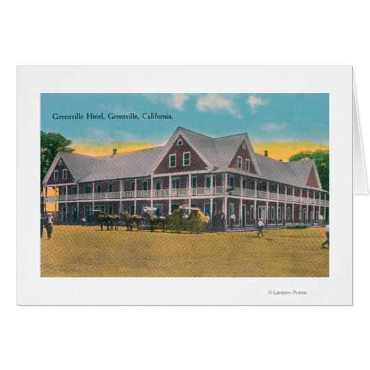 Exterior View of the Greenville Hotel Card