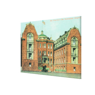 Exterior View of the Hahnemann Hospital Canvas Prints