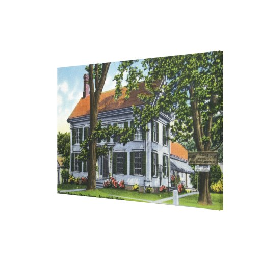 Exterior View of the Harriet Beecher Stowe House Canvas Print