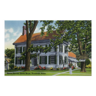Exterior View of the Harriet Beecher Stowe House Poster