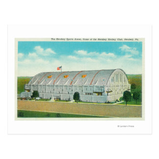 Exterior View of the Hershey Sports Area Postcard