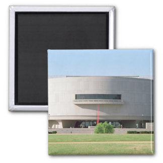 Exterior view of the Hirshhorn Museum, 1974 ) 2 Inch Square Magnet