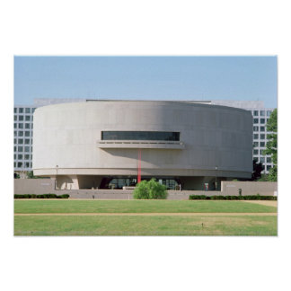 Exterior view of the Hirshhorn Museum, 1974 ) Poster