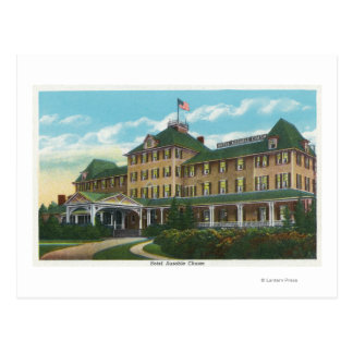 Exterior View of the Hotel Ausable Chasm Postcard