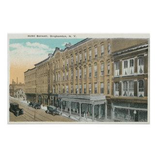 Exterior View of the Hotel Bennett Poster