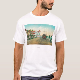 Exterior View of the Hotel Capitola and Cottages T-Shirt