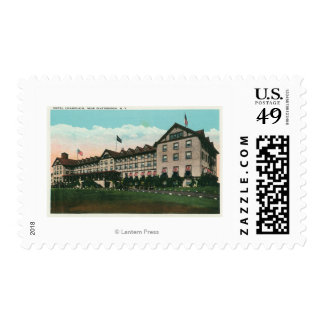 Exterior View of the Hotel Champlain Postage