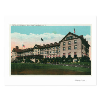 Exterior View of the Hotel Champlain Postcard