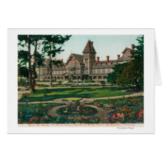 Exterior View of the Hotel del Monte and Grounds Greeting Card